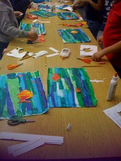 No directions with this.but love the idea. Summer Art Projects, Summer Crafts, Kindergarten Art, Preschool Art, Vbs Crafts, Pasta Crafts, 2nd Grade Art, Ecole Art, Kids Artwork