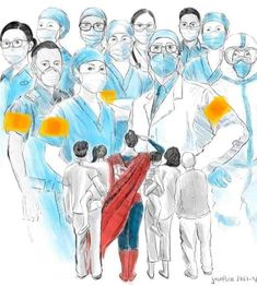 Our NHS staff wear capes. Nurse Drawing, Doctor Drawing, Happy Doctors Day, Graffiti, Nurse Art, Medical Pictures, Medical Art, All Hero, We Are The World