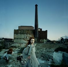 Tamara Dean #photography #portrait #urban #girl #redhead #child #rural #industrial