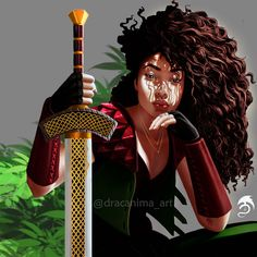 Warrior Woman - Shizen I came to and found her gaze fixed on me. Her face radiating in the noon sun, beauty rivaled only by her skill with… Black Characters, Fantasy Characters, Female Characters, Dnd Characters, Black Girl Art, Black Women Art, Fantasy Inspiration, Character Inspiration, Fantasy Character Design