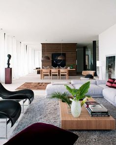 open living room + wooden details