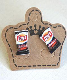 lay's potato chips earrings