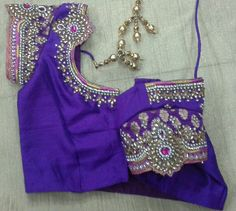 Rawsilk blouse with banaras hands with stone work 7702919644