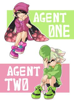 agent 1 and agent 2 by gomigomipomi.tumblr.com