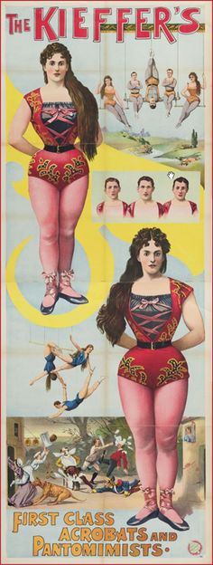 Vintage Circus Poster jamaica byles: Vintage Circus Posters