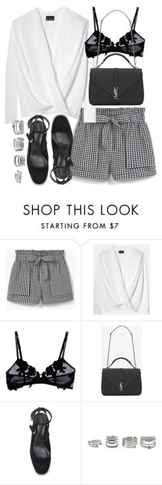 """Untitled #19772"" by florencia95 ❤ liked on Polyvore featuring MANGO, La Perla, Yves Saint Laurent, Rebecca Minkoff and Forever 21"