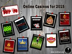 Voidcan.org brings you the list of top ten online casino and all the information regarding online casino which makes them best. List is researched by our online casino experts