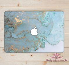 Ocean Blue Marble MacBook Case Hard Plastic by MacBookCasesandCo