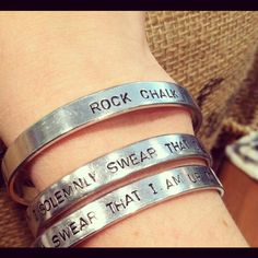 """Rock Chalk bracelet at """"Made"""" on Mass on FB, in Lawrence KS. Cool."""