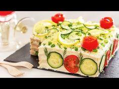Festliche SANDWICHTORTE - leckeres Partyrezept | Smörgåstårta - YouTube