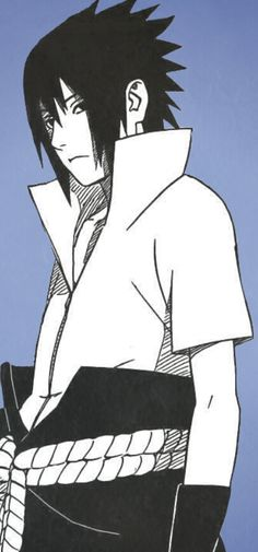 Sasuke Uchiha, his personality would be a great inspiration for a character