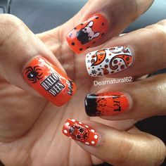Halloween Nails YouTube: Dearnatural62 @dearnatural62