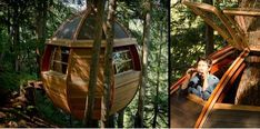 HemLoft is a self-funded secret egg-shaped tree house built by Joel Allen on crown land (government owned) in Whistler, BC, Canada. Tree Deck, Location Chalet, Building A Treehouse, Treehouse Ideas, Forest Cabin, Cool Tree Houses, Tree House Designs, Getaway Cabins, Unique Trees