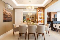 Open Plan Kitchen Living Room, Living Room Tv, Dinning Table, Dining Area, Luxury Interior, Interior Design, Plafond Design, Dinner Room, House