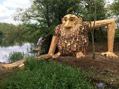 Thomas Dambo gigantes de madera 16. En Copenhage