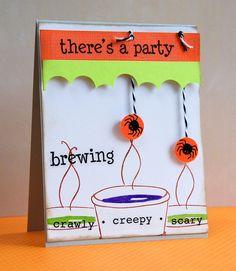 Cute Halloween party invite