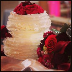 Sarah and Rod's wedding cake  By Carter's Creative Catering