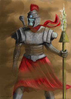 sci fi roman warrior armor