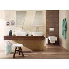 Tiles and Terrazzo Brown Bathrooms Designs, Terrazzo, Powder Room, Wall Tiles, Decoration, Toilet, Sink, Flooring, Furniture