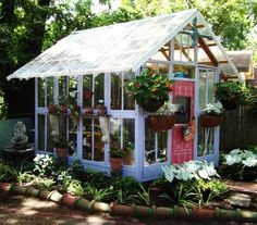 how to reuse and recycle old wood windows for garden house