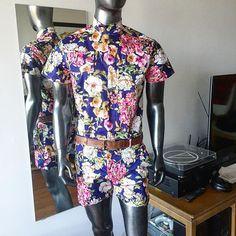 d5991bf59d1 Custom floral summer jumper for  rj4gui4r. Dressy version with slash  pockets and belt loops