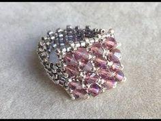Cómo hacer un anillo hermoso con rocallas, miyuki o toho, fácil - YouTube