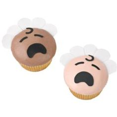 Crying baby cupcake.  Easy to turn that frown upside down and into a smile though!
