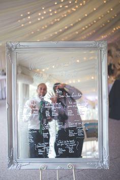 Mirrored wedding table plan