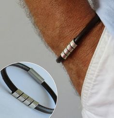 Silvermens Personalized Gift For Men Gifts Him Leather Bruijoux Bracelet