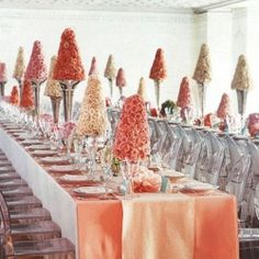 Who could ever forget this chic wedding reception from artfool and martha stewart weddings?