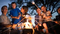 Campfires | Gather 'round as the sun goes down for a little old-fashioned family fun as you roast marshmallows next to a crackling fire.