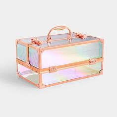 Store your makeup in style with our range of Makeup Organisers & space saving Makeup Storage. Find organisers, trays & cases in a range of styles. Makeup Storage Case, Makeup Storage Organization, Makeup Case, Storage Boxes, Cosmetic Storage, Holographic Makeup, Jewellery Boxes, Jewellery Storage, Home