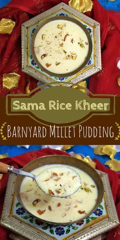 Sama ke chawal are also known as barnyard millet or samo/moraiyo. This kheer is especially made during fasts/vrat. Sama rice gives the same texture and feel as the normal rice. But, they are more healthy as per to rice in many ways Indian Beef Recipes, Veg Recipes, Gourmet Recipes, Sweet Recipes, Vegetarian Recipes, Snack Recipes, Healthy Recipes, Millet Recipes, Fast Recipes