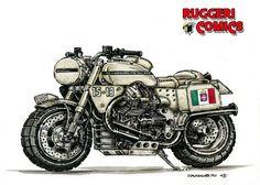Post in Moto Guzzi su RUGGERI COMICS