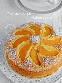 Happy Home Baking: Orange and peach yoghurt cake Peach Yogurt Cake, Peach Cake, Orange Yogurt, Lemon Yogurt, Asian Cake, Bowl Cake, Easy Cake Recipes, Plum Recipes, Loaf Recipes