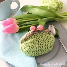 Birthday breakfast? Coffee and cake? No, this is my latest purse! Free pattern in Swedish in my blog! BautaWitch.se