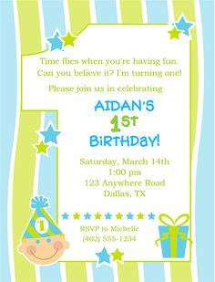 1st First Birthday Boy Party Invitations Personalized-1st,first,birthday,boy,personalized,  party,invitations,1st birthday boy party invitations