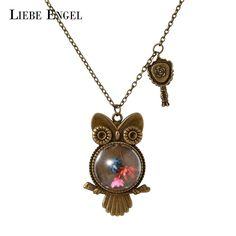 Find More Pendant Necklaces Information about LIEBE ENGEL Charm Dried Flowers Owl Shape Necklace & Pendant Vintage Long Sweater Chain Jewelry Choker Statement Necklace Women,High Quality necklace alice,China jewelry necklace stand Suppliers, Cheap necklace costume jewelry from LIEBE ENGEL Official Store on Aliexpress.com