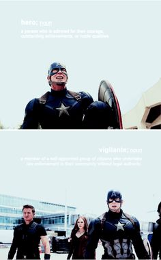 While a great many people see you as a hero, there are some who'd prefer the word vigilante. #marvel