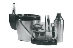 This home bar ware gift set has all the basic bartending tools to get you started mixing cocktails. Matching 11 piece kit info at http://homebars.barinacraft.com/post/36127166268/oxo-11-piece-home-bar-ware-set