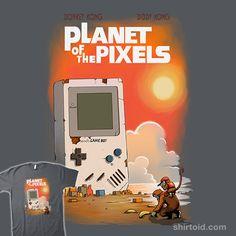 Planet of the Pixels   Shirtoid #diddykong #donkeykong #gameboy #gaming #moisescudero #nintendo #videogame
