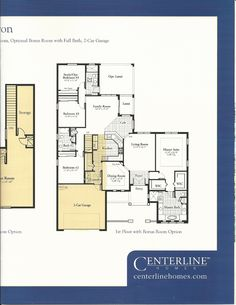 Bronson's Landing Baron Alternative First Floor Plan in Windermere FL
