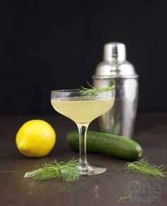 Cat's Pajamas - a play on the Bee's Knees with cucumber, gin and fennel honey syrup.