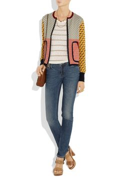 Tory Burch jacket, Splendid shirt, Acne jeans, Mulberry bag, Lanvin shoes