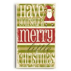 """ArteHouse Decorative Wood Sign """"Merry Little Christmas"""" by Artist Misty Diller, 14"""" x 23"""", Planked Wood"" #littlecabin"