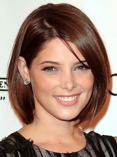 Ashley Greene Style Elegant Medium Straight Brown 10 Inches Lace Wig