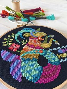 Capricorn zodiac sign Satsuma Street modern cross stitch