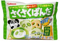 Kabaya Saku Saku Panda Double Matcha Green Tea Latte Chocolate Biscuits