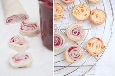 Kekse cookies aus fertigem mürbeteig und marmelade