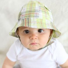 Little Man Madras Plaid Sun Hat for Baby and Toddler Boys #Melondipity